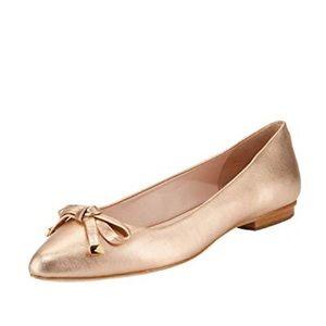 "Kate spade ""Emma"" rose gold flats"
